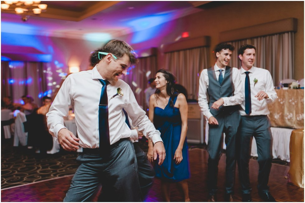 Wedding party dancing at the Delta Chelsea Guelph