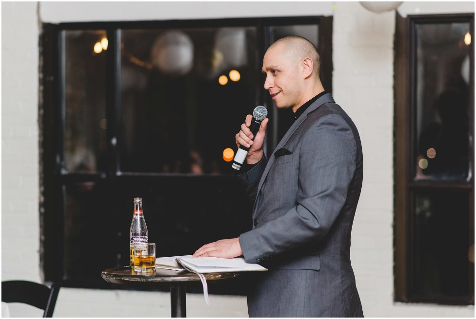 burroughes wedding speech, toronto wedding photographer