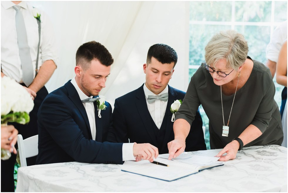 same sex wedding photography Hockley Valley Resort