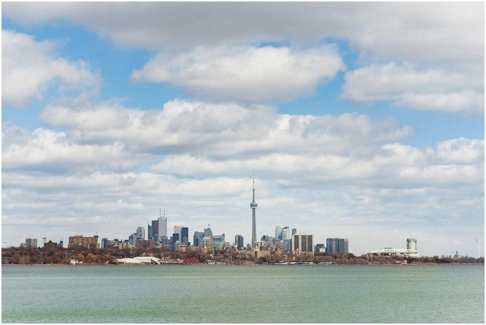view of Lake Ontario and Toronto skyline proposal photography
