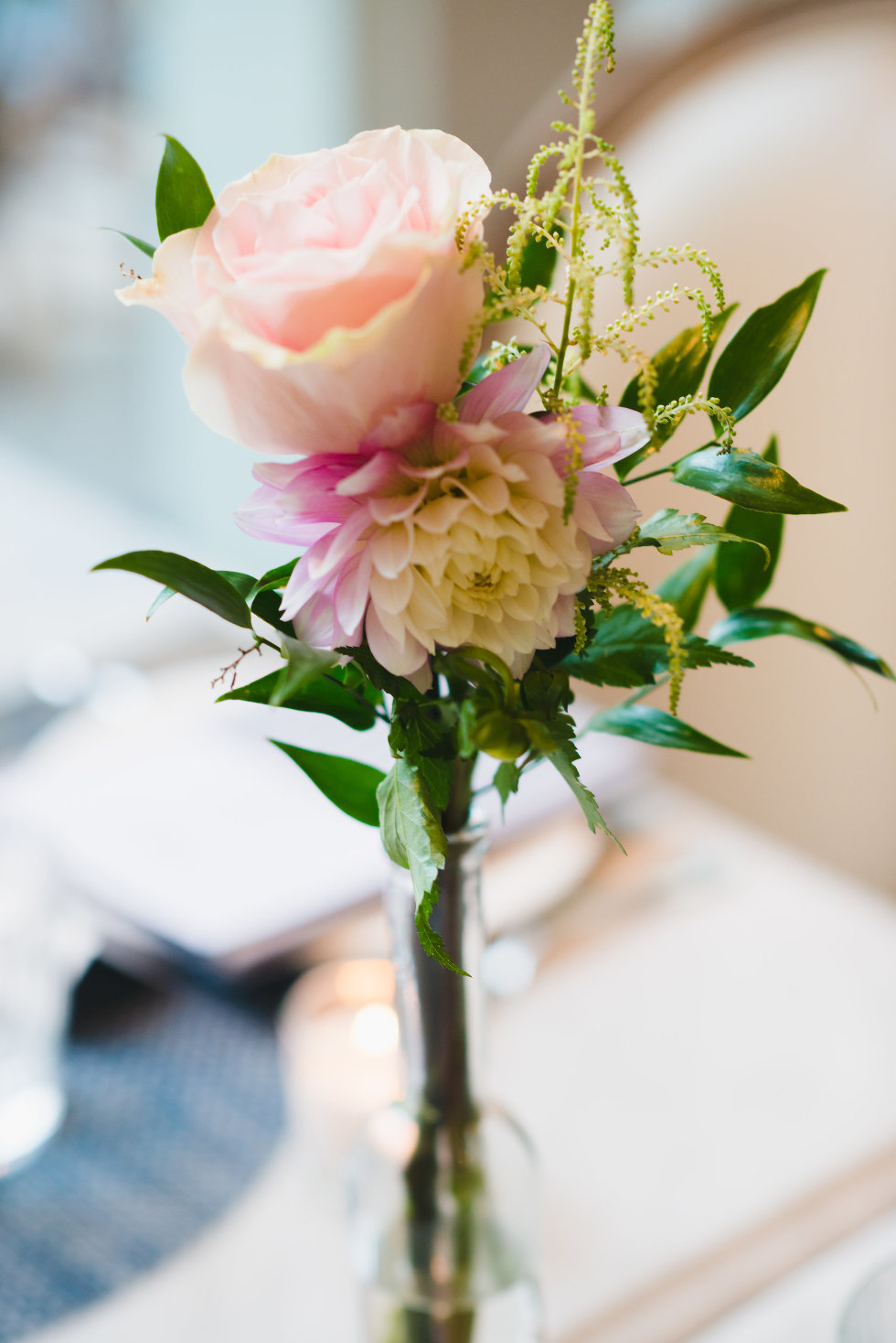 peach and pink coloured floral arrangement Toronto wedding photography