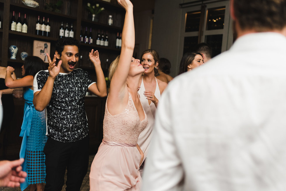 wedding guests dancing on dance floor Toronto wedding photography