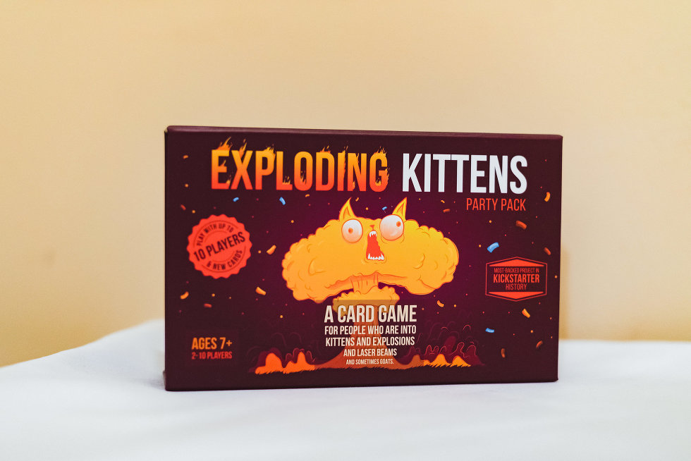 exploding kittens board game Niagara wedding photography
