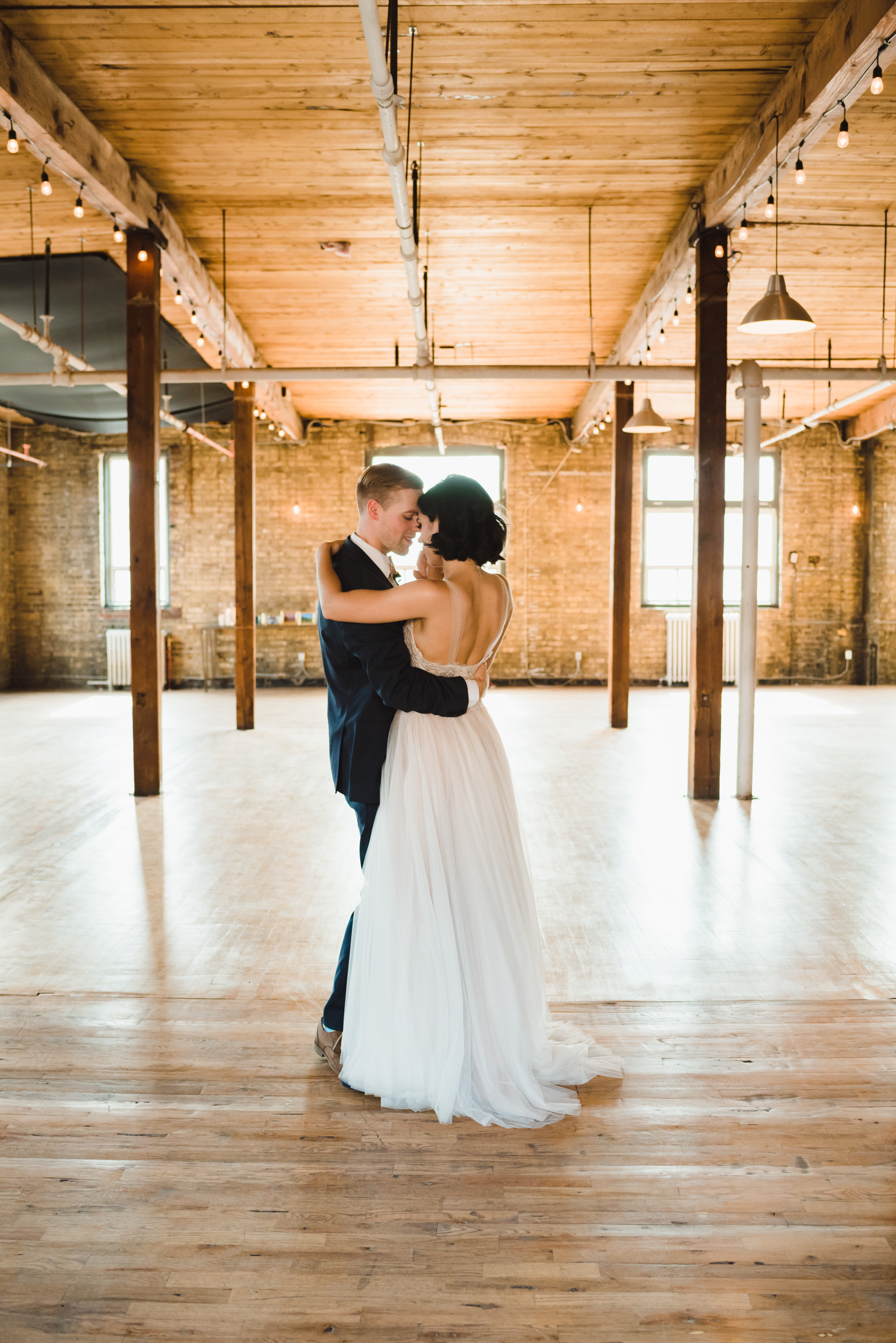 bride and groom dancing at the Jam Factory in Toronto Gillian Foster