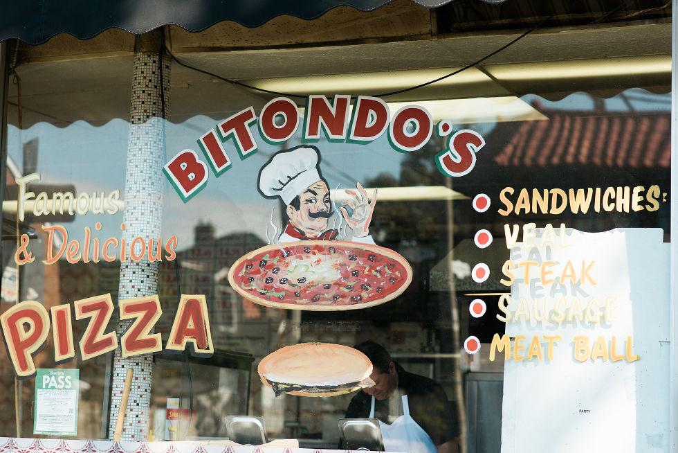 writing on the glass window of bitondo