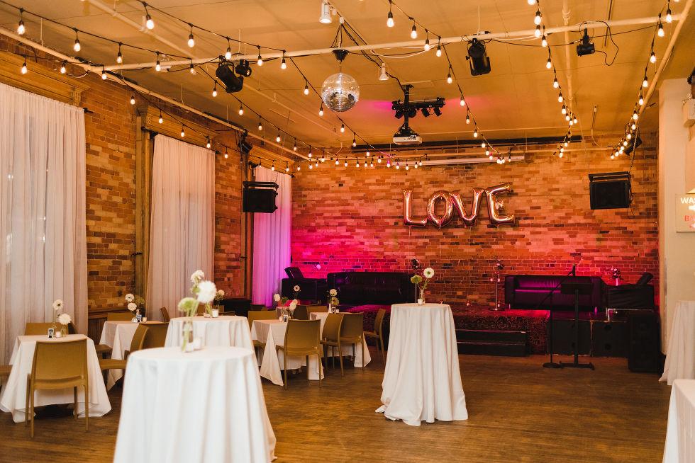 wedding reception at the Gladstone Hotel Toronto wedding photography