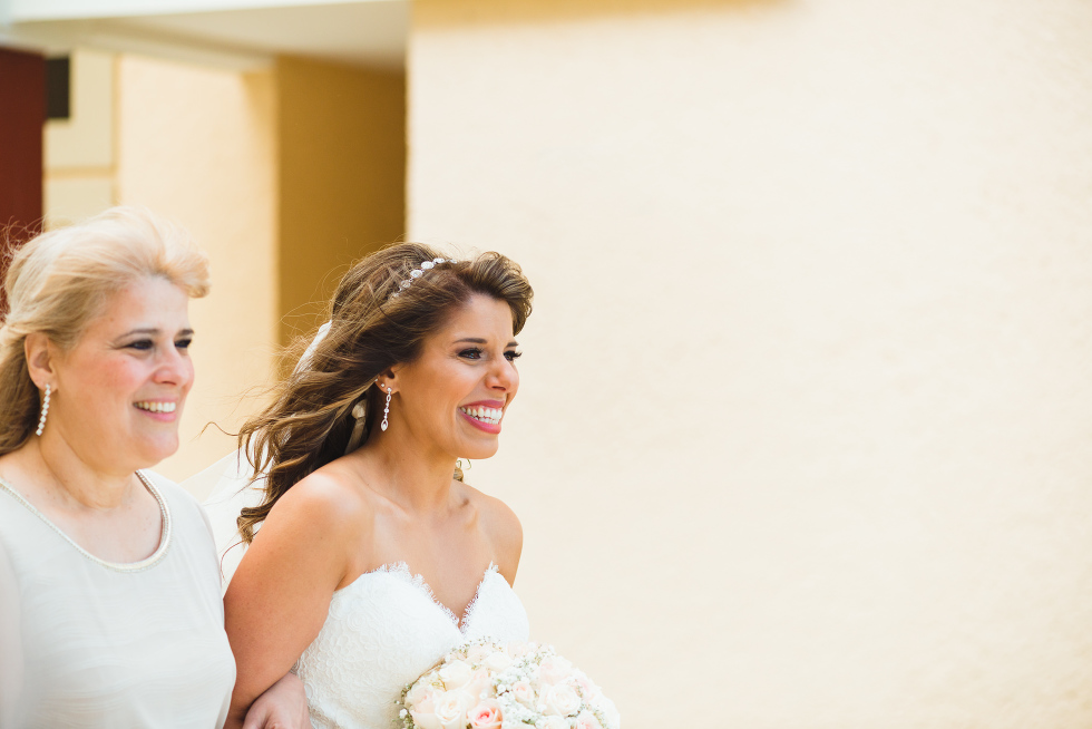 bride smiling as she