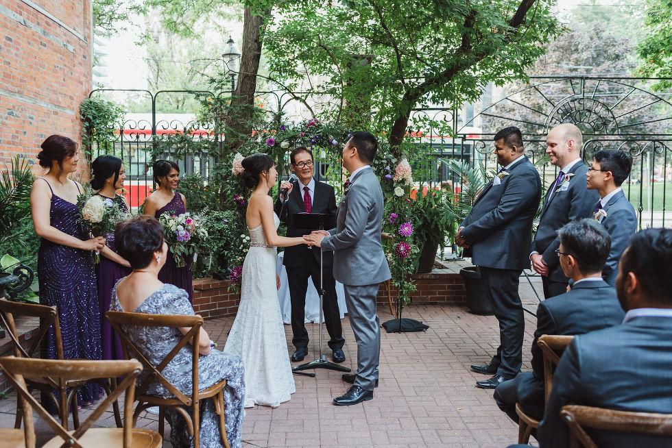 Parisian inspired wedding ceremony in Toronto Ontario at La Maquette